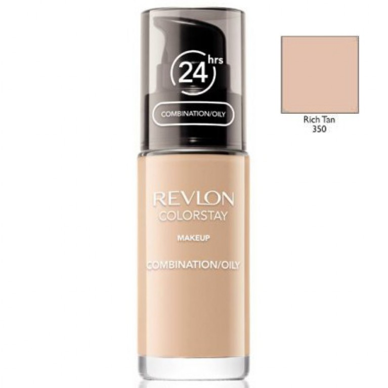 REVLON_ColorStay With Pump makeup combination/oily skin 350 Rich Tan 30ml