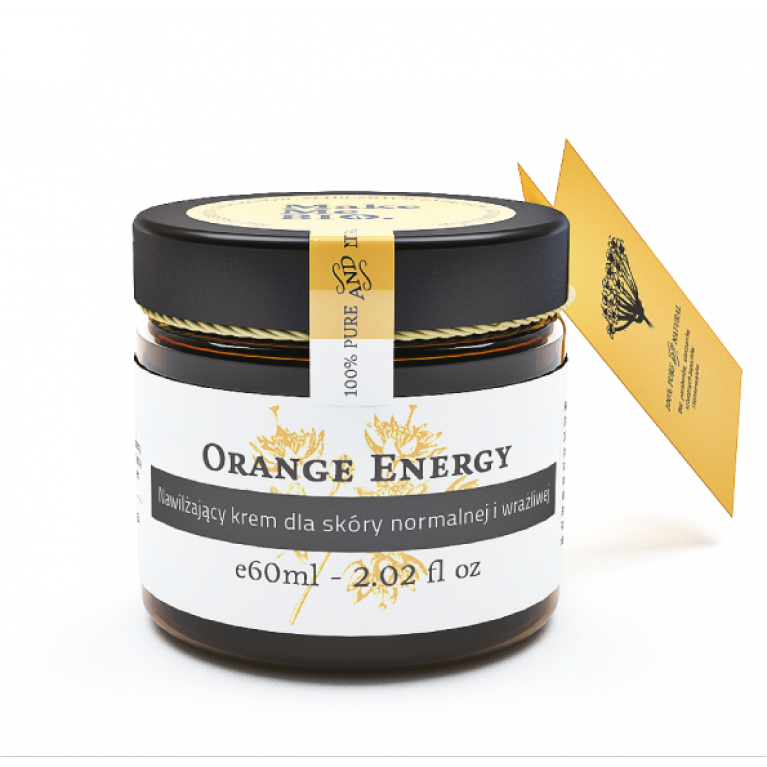 Orange Energy/ Nawilżający krem dla skóry normalnej i wrażliwej